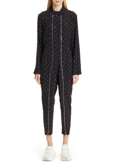Stella McCartney Circle Print Silk Jumpsuit