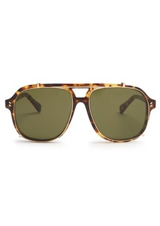 Stella McCartney Clip-on aviator acetate sunglasses
