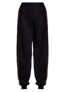 Stella McCartney Contrast-panel wool track pants