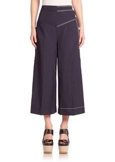 Stella McCartney Contrast Stitch Culottes
