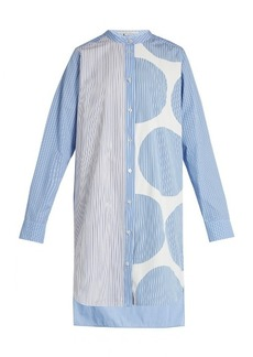 Stella McCartney Contrasting-print cotton shirtdress