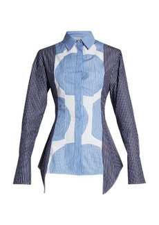 Stella McCartney Contrasting-print long-sleeved shirt