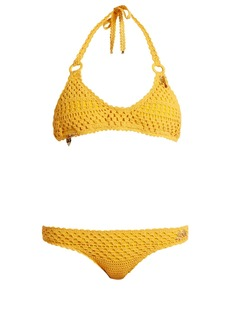 Stella McCartney Cotton-blend crochet charm bikini