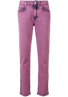 Stella McCartney cropped denim jeans - Pink & Purple