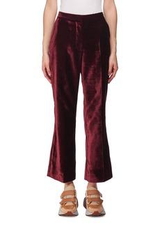 Stella McCartney Cropped Flare-Leg Velvet Pants