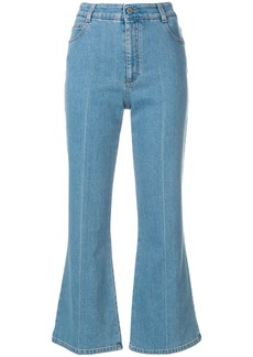 Stella McCartney cropped flared jeans - Blue