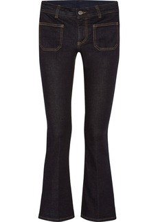 Stella McCartney Cropped mid-rise flared jeans