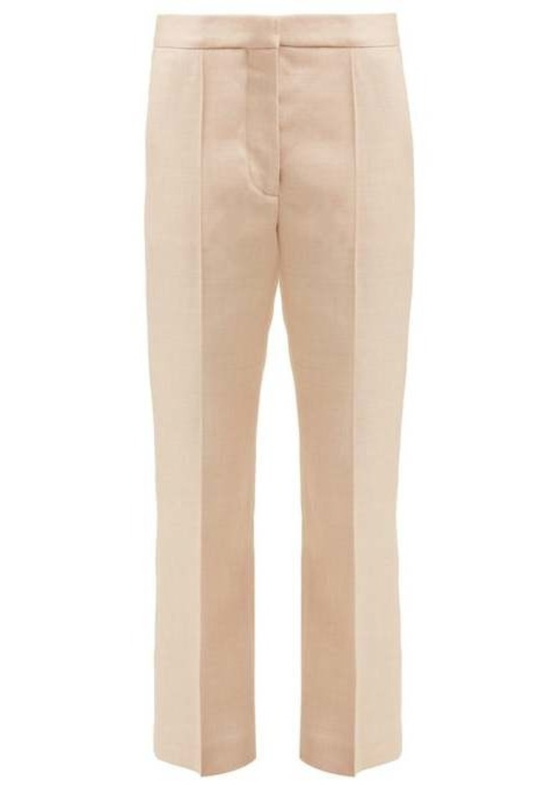 Stella McCartney Cropped tailored twill trousers