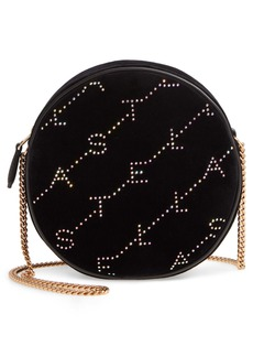 Stella McCartney Crystal Monogram Velvet Circle Crossbody Bag