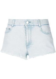 Stella McCartney cut-off denim shorts - Blue