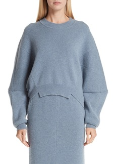 Stella McCartney Cutout Hem Wool & Alpaca Sweater