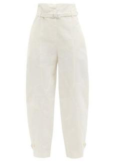 Stella McCartney Daisy curved-leg twill trousers