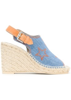 Stella McCartney denim espadrille wedge sandals - Blue