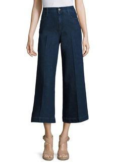 Stella McCartney Denim Wide Leg Cropped Culottes