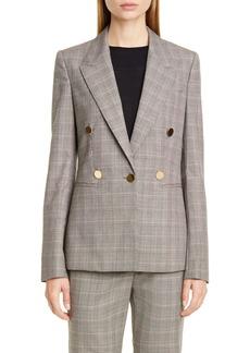Stella McCartney Double Breasted Check Wool Blazer