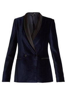 Stella McCartney Double-breasted velvet jacket