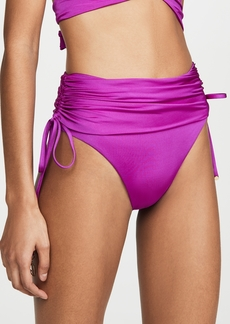 Stella McCartney Draped High Waist Bikini Bottoms