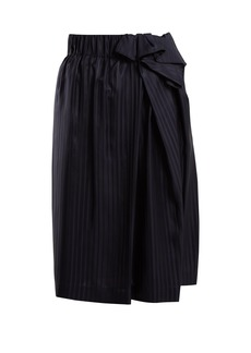 Stella McCartney Draped-side striped silk skirt