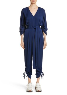 Stella McCartney Drawstring Cady Jumpsuit