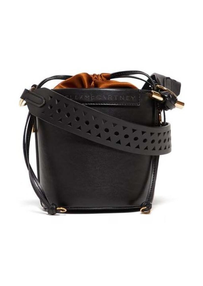 Stella McCartney Drawstring faux-leather bucket bag
