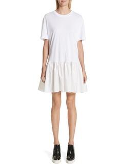 Stella McCartney Drop Waist Taffeta Hem T-Shirt Dress