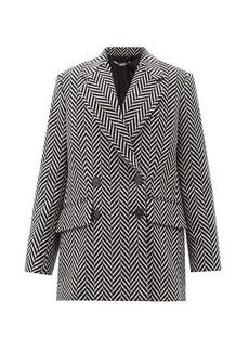 Stella McCartney Edith double-breasted chevron wool-blend coat