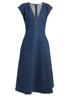 Stella McCartney Ella V-neck fluted denim dress