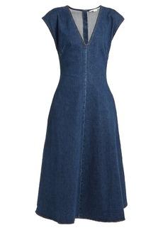 Stella McCartney Ella V-neck fluted denim dress