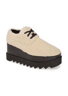 Stella McCartney Elyse Faux Shearling Platform Sneaker (Women)