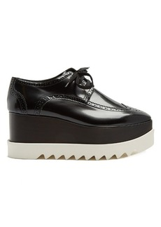 Stella McCartney Elyse lace-up faux-leather platform shoes