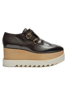 Stella McCartney Elyse monk-strap faux-leather platform shoes