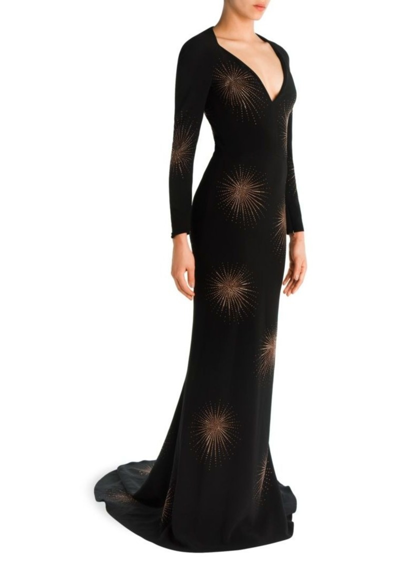 Stella McCartney Embellished Deep V-Neck Gown | Dresses