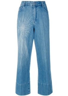 Stella McCartney embellished wide-leg jeans - Blue