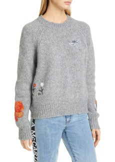 Stella McCartney Embroidered Alpaca & Wool Blend Sweater