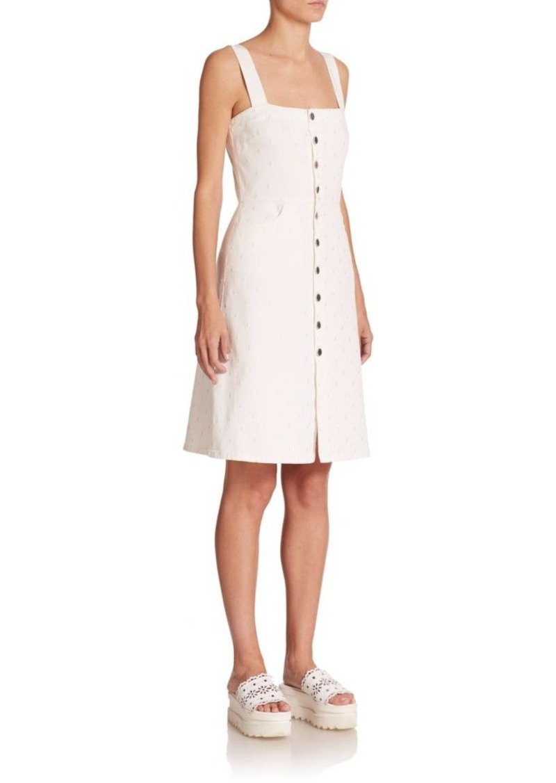 Stella McCartney Embroidered Button-Front Dress