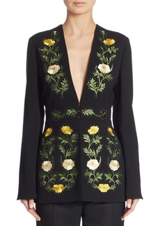 Stella McCartney Embroidered Floral Wool Jacket