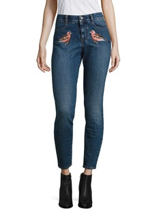 Stella McCartney Embroidered High-Waist Skinny Jeans