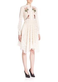 Stella McCartney Embroidered Lace Shirtdress
