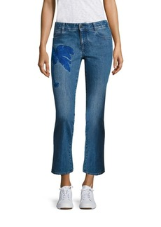 Stella McCartney Embroidered Skinny Kick Flare Jeans
