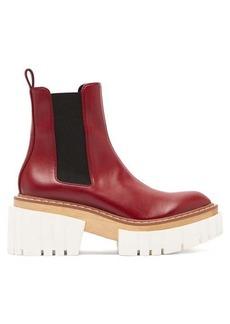 Stella McCartney Emilie faux-leather platform Chelsea boots