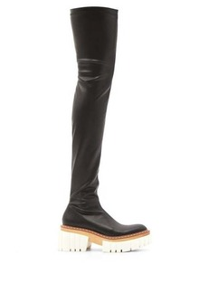 Stella McCartney Emilie faux-leather platform over-the-knee boots