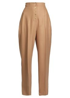 Stella McCartney Fabienne high-rise wide-leg wool-blend trousers