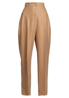 Stella McCartney Fabienne high-rise wide-leg wool-blend trousers