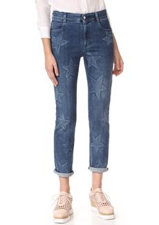 Stella McCartney Faded Star Boyfriend Jeans