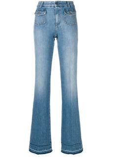 Stella McCartney faded wide-leg jeans - Blue
