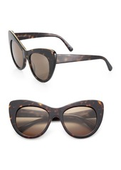 Stella McCartney Falabella Chain 53MM Oversized Cat's-Eye Sunglasses