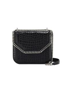 8a7f680bfa Stella McCartney Falabella Large Crocodile-Embossed Box Shoulder Bag