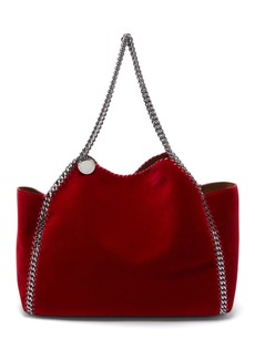 Stella McCartney Falabella small reversible velvet tote bag