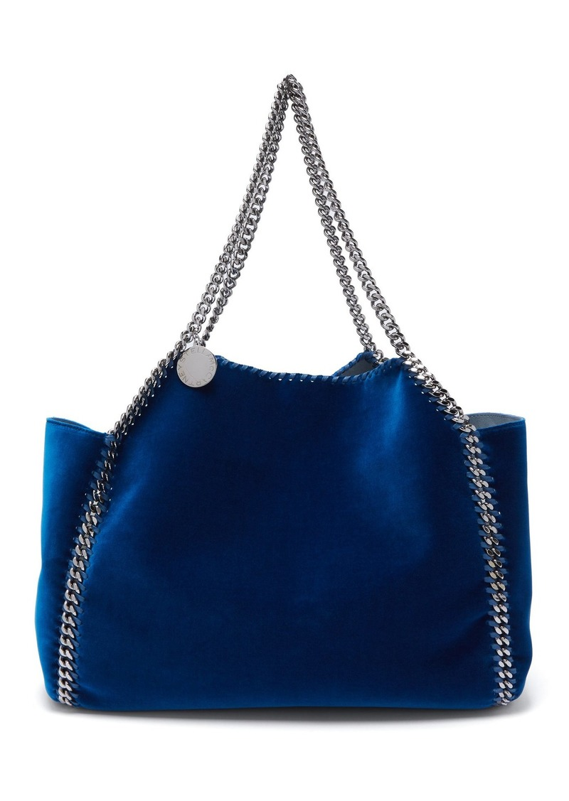Stella McCartney Falabella small reversible velvet tote