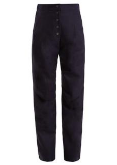 Stella McCartney Fantine high-waist straight-leg wool trousers